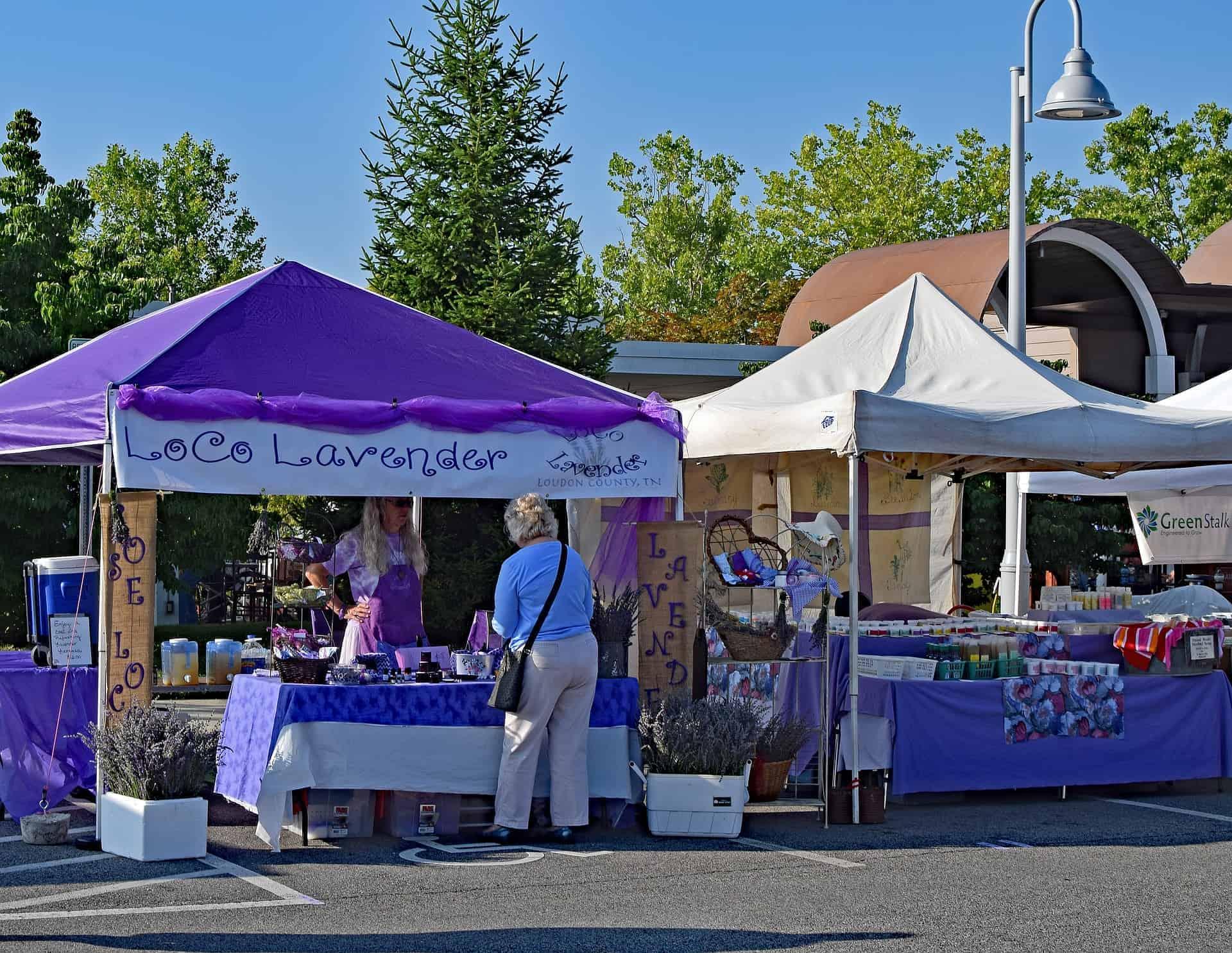 Lavender market, Valensole Plateau in Provence, lavender fields France, Valensole France, lavender fields france season