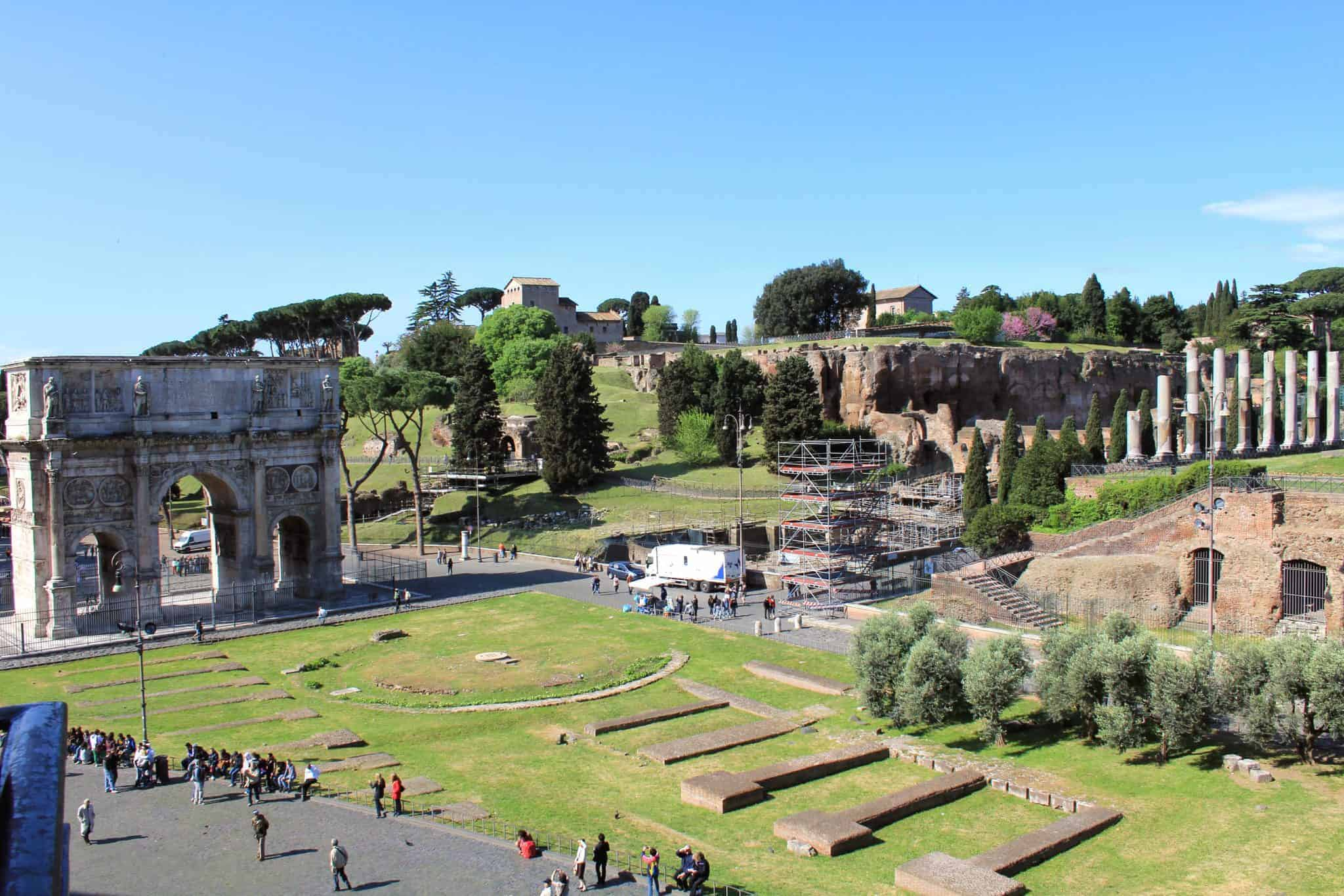 The Palatine Hill, things to do in Rome, St. Peter's Square, St. Peter's Dome in Rome, visit Rome in winter, Rome in winter, winter in Rome, Vatican city, 2-3 days Rome itinerary