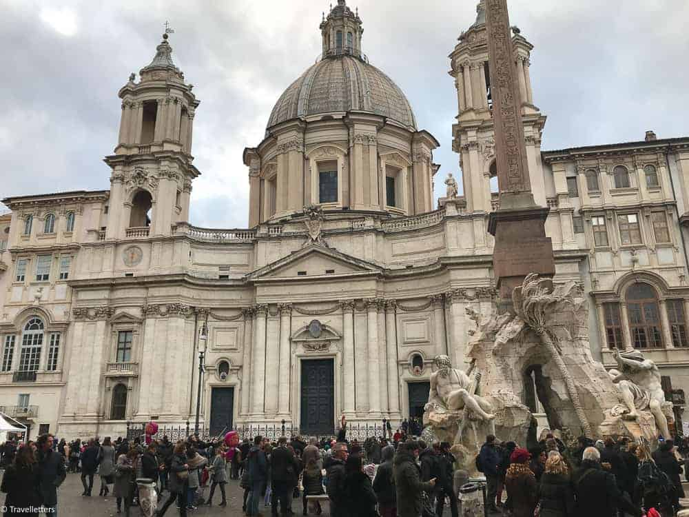 Piazza Navona, Sant'Agnese in Agone church in Rome, things to do in Rome, St. Peter's Square, St. Peter's Dome in Rome, visit Rome in winter, Rome in winter, winter in Rome, Vatican city, 2-3 days Rome itinerary