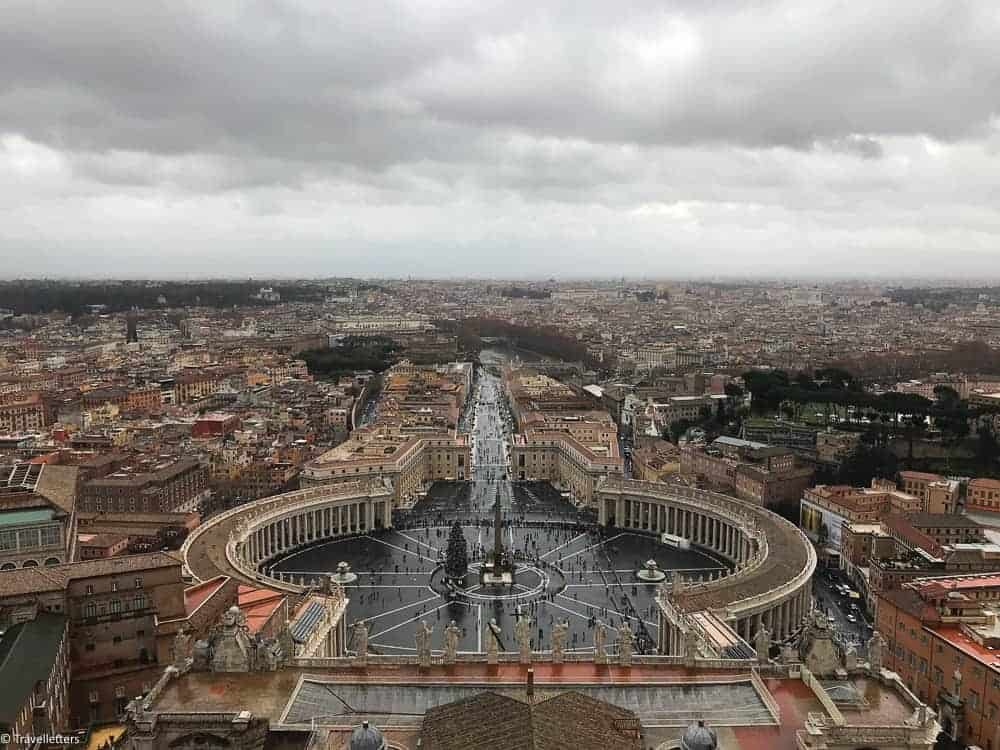 things to do in Rome, St. Peter's Square, St. Peter's Dome in Rome, visit Rome in winter, Rome in winter, winter in Rome, Vatican city, 2-3 days Rome itinerary