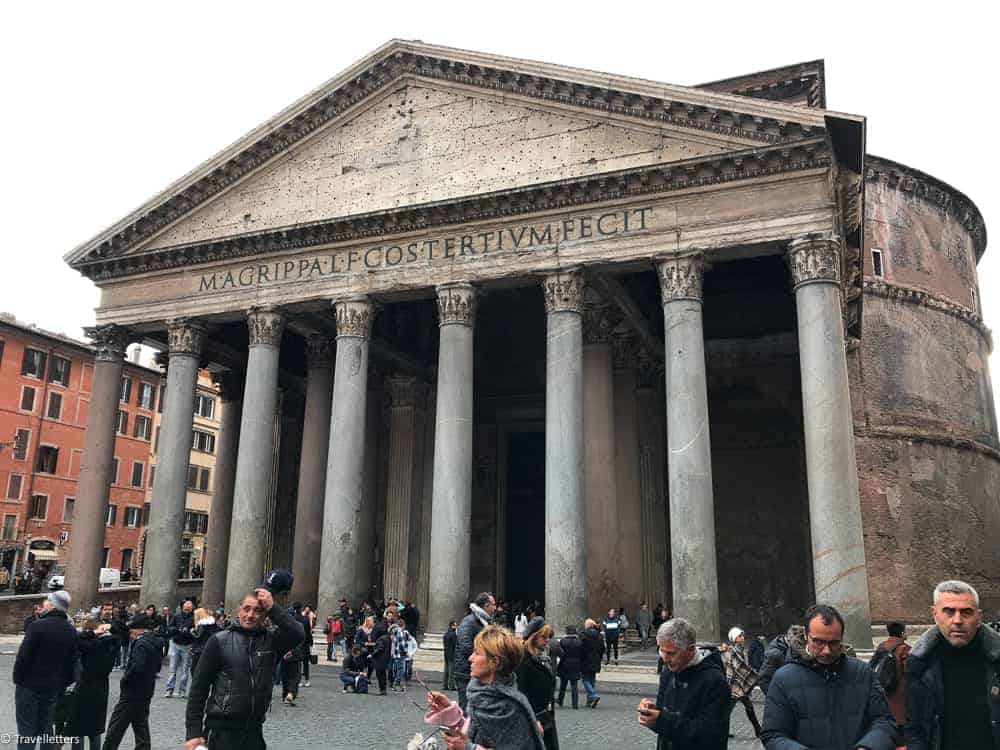 Pantheon in Rome Italy, things to do in Rome, St. Peter's Square, St. Peter's Dome in Rome, visit Rome in winter, Rome in winter, winter in Rome, Vatican city, 2-3 days Rome itinerary