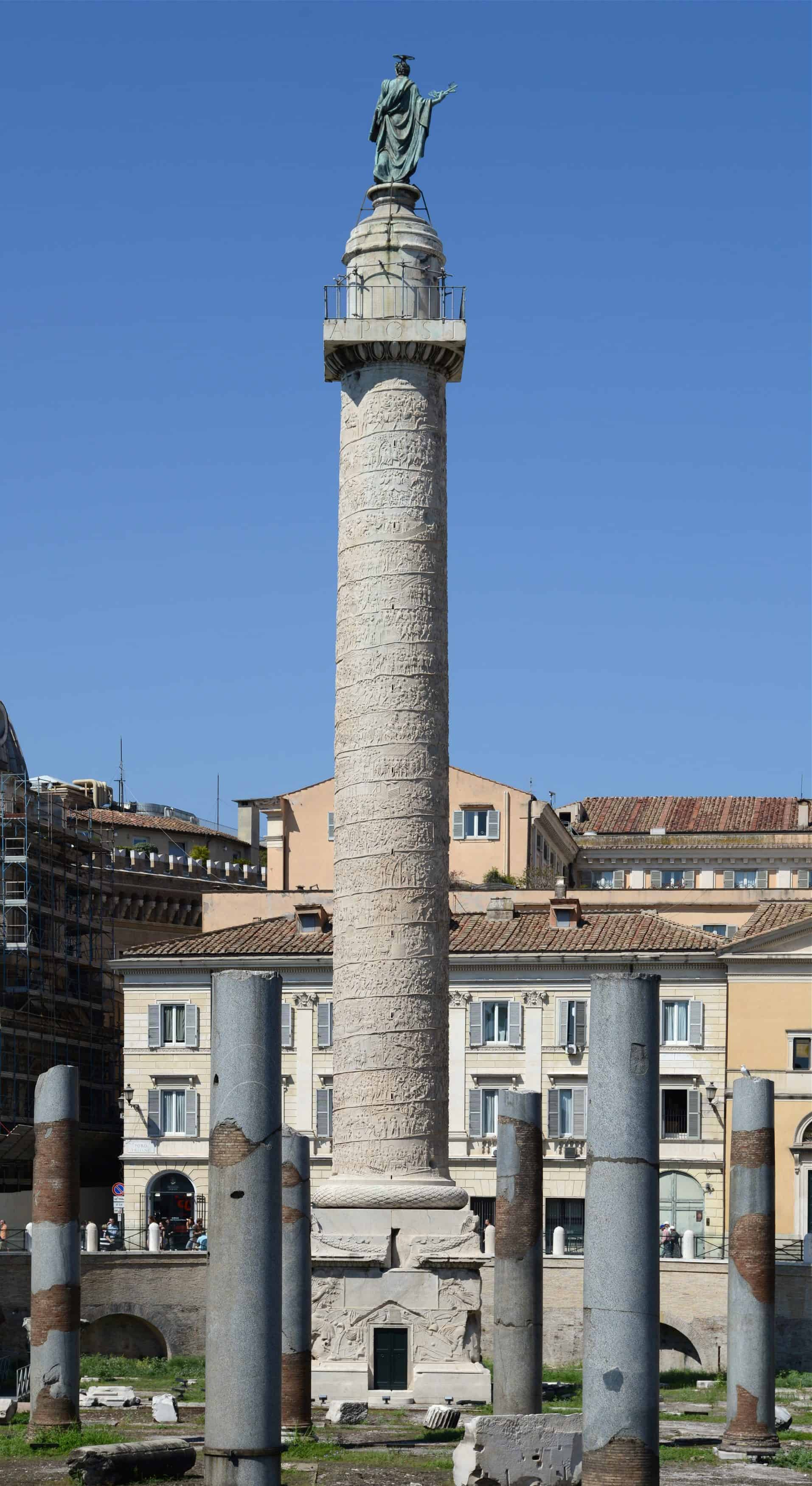 The Trajan Columns in Rome, things to do in Rome, St. Peter's Square, St. Peter's Dome in Rome, visit Rome in winter, Rome in winter, winter in Rome, Vatican city, 2-3 days Rome itinerary