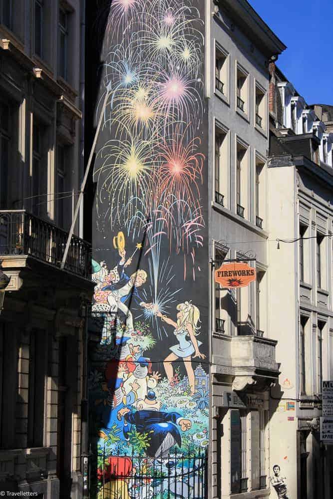 Tintin street art i Brussel, Storbyferie i Europa, weekendtur til Brussel, høst destinasjon, beste storby for weekendtur i oktober, ting å gjøre i Brussel, jentetur til Brussel, kjærestetur til Brussel