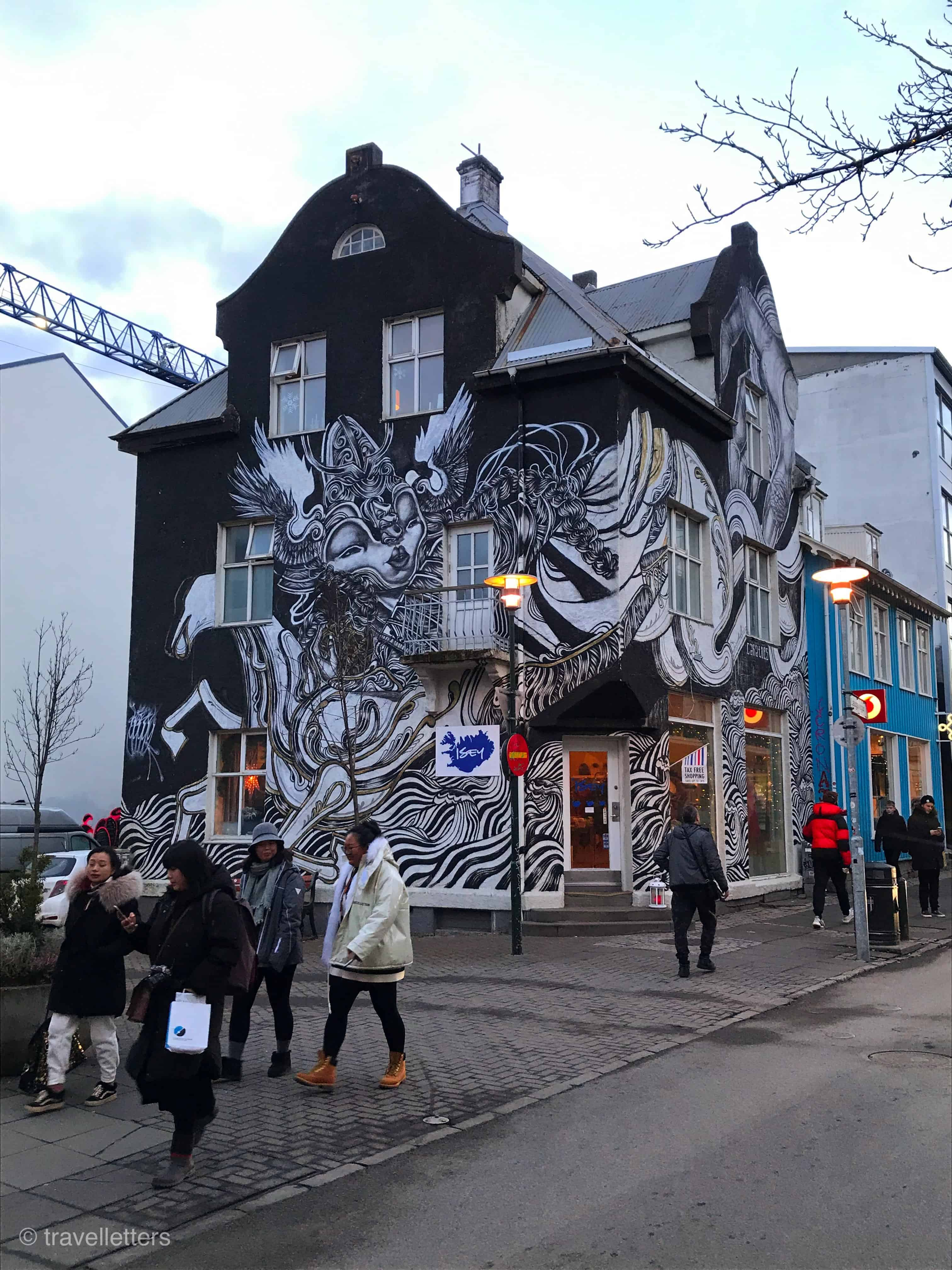 Reykjaviks gågate Laugavegur, Island, weekendtur til Reykjavik, weekendtur til Island, Golden Circle, helgetur til Reykjavik Island