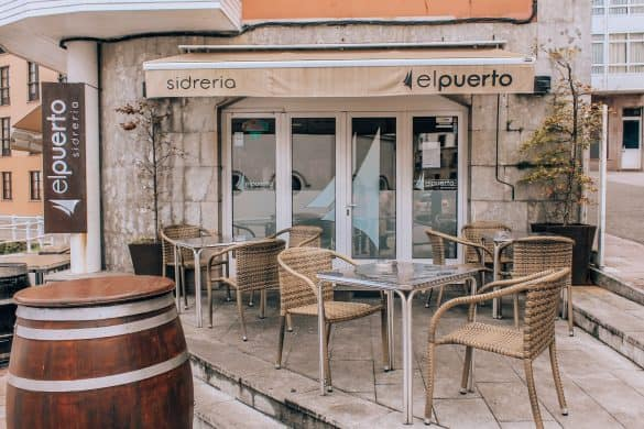 Asturias, Spania,Nord-Spania, Llanes, spise i Llanes, restaurant i Llanes