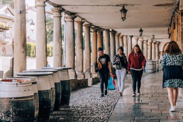 Asturias, Spania, Oviedo, Aviles,Nord-Spania, gamlebyen Aviles