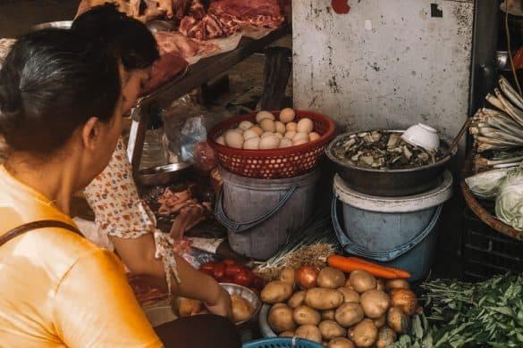 Grønnsakselgere i Hanoi
